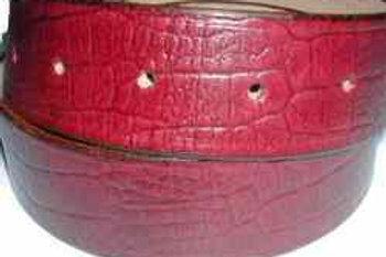Crock Grain Print Belt Red