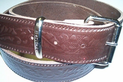 BROWN ACORN PATTERN BELT STRIP B8AMBROWN