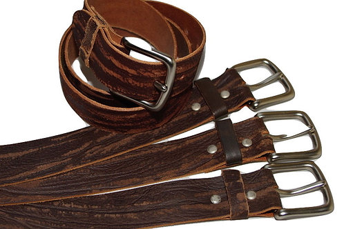34mm Real Leather Distressed Brown Belt