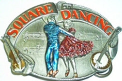 SQUARE DANCE BUCKLE G30
