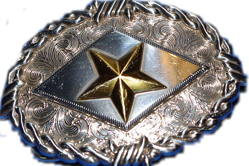 Texas Star Barbed Wire Belt Buckle