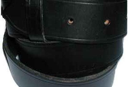 Plain Black Bridle Leather Belt