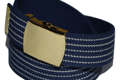 Elasticated Belt Blue Comfort Fit Style
