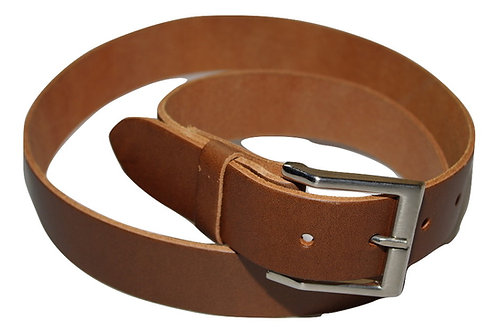 34mm Oak tan Real Leather Belt