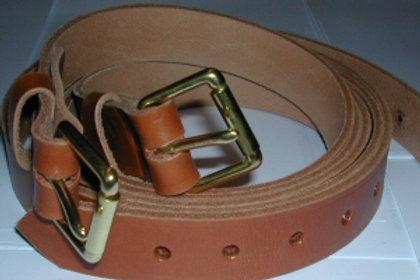 Tan Brown Luggage Straps Full Grain Leather (1 Pair 2 straps)