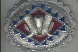 LARGE HAT BOOTS DIAMOND CUT BUCKLE GT4285L