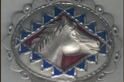 LARGE DIAMOND CUT HORSE BUCKLE GT4284L