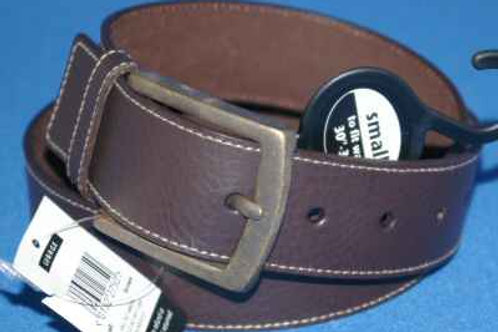 Brown Bonded Leather Jeans Belt