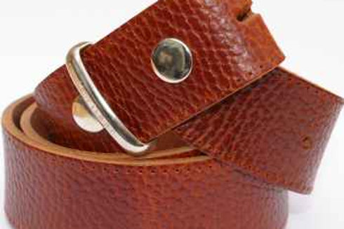 Heavy Grain 1.5 Inch Brown Belt Strip for Buckles