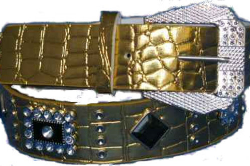 DIAMANTE BUCKLED BELT SYNTHETIC FASHION CH008