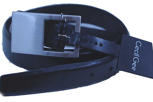 25mm 1 Inch Real leather Belt By Cecil Gee Medium