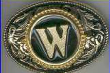 LETTER W BUCKLE RCW