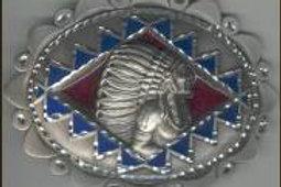 LARGE INDIAN DIAMOND CUT BUCKLE GT4289L