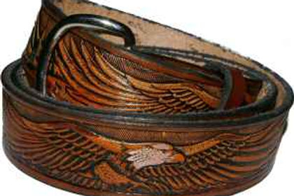 Spread Wing Eagle Hand painted Belt cbseag