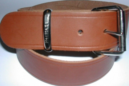 Tan Belt Press Studded Strap With Free Buckle 38mm
