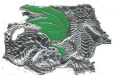 CHROME DRAGON BUCKLE B6295