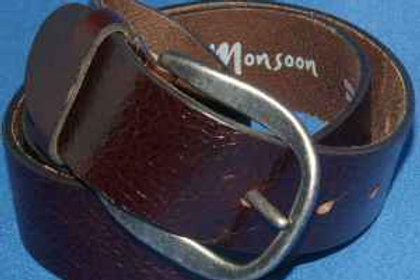 Brown Real Leather Belt By Monsoon