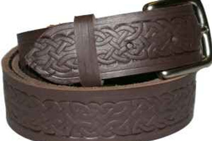 Celtic Pattern BROWN Belt