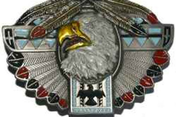 INDIAN EAGLE BELT BUCKLE E256