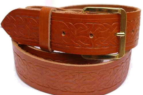 Celtic Pattern Tan Belt