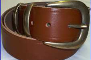 LIGHT BROWN DOUBLE RUNNER BELT WITH BUCKLE