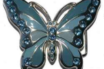 Butterfly Blue Buckle