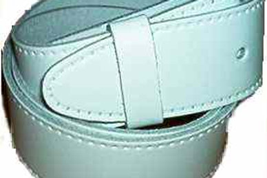 Plain White Leather Belt 38mm