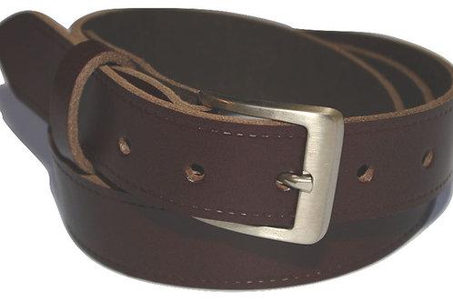 Dark Brown Real Leather Trouser Belt 30mm