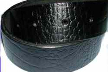 Crock Grain Print Belt Black