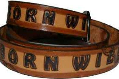 Born Wild Hand Painted Belt cbswild