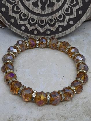 Champagne Swarovski Crystal Bracelet