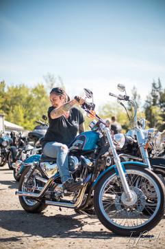 Kat Stewart, Biker