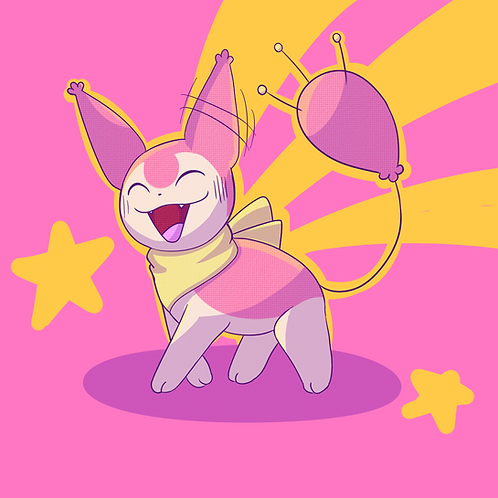 Skitty Kitty Art Print!