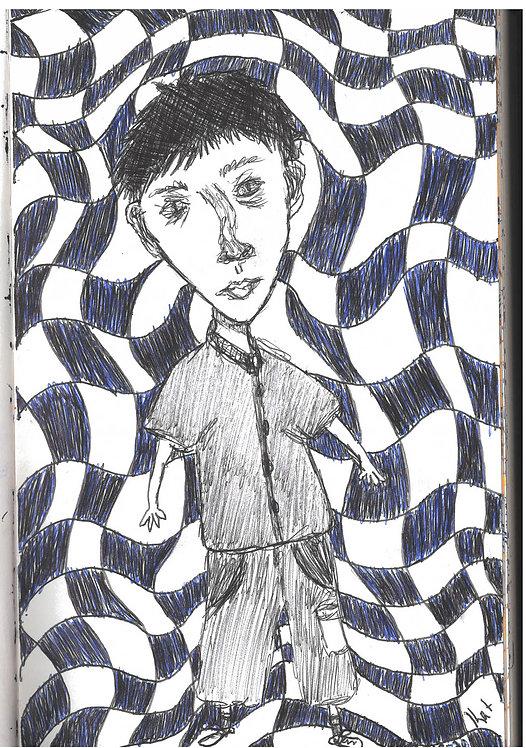 5x7 Altered Self Portrait