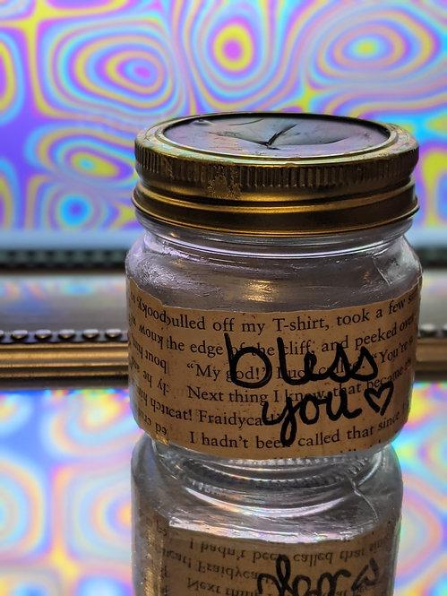 "Small ""Bless You"" Mason Jar Tissue Holder"