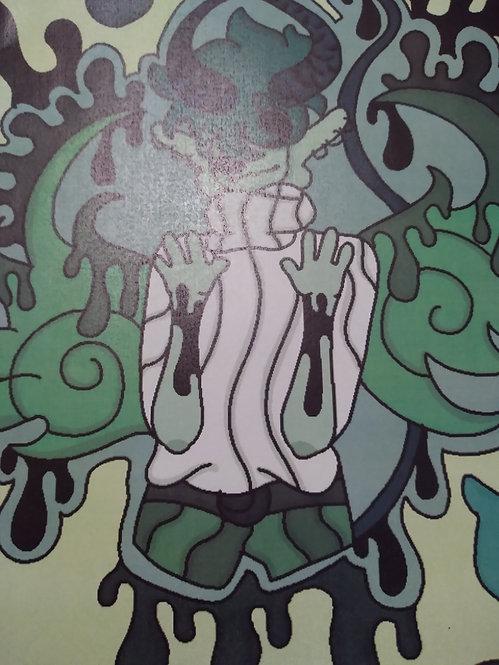 Green Demon Drawing