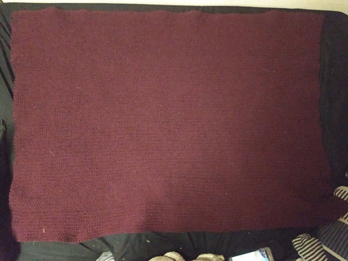 "Burgundy 50x40"" Knitted Blanket"