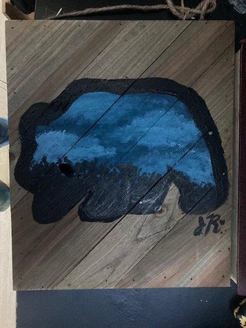 Bear on Wood Painting