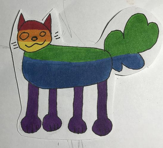 Pride Funky Cat Sticker