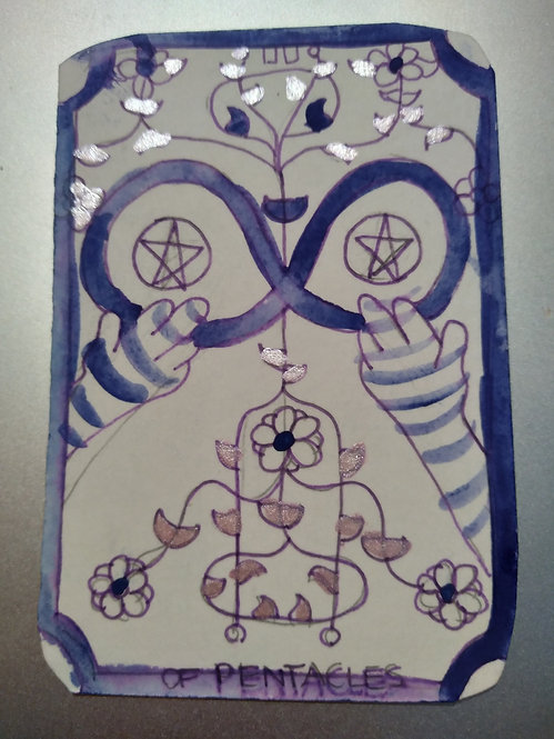 Set of 6 Rainbow Tarot Card #4