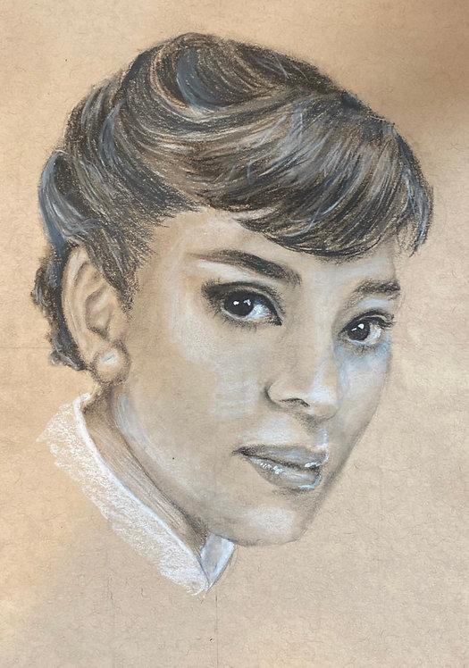 Audrey Hepburn Charcoal piece