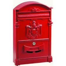Casseta postale rosso