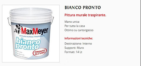 Pittura murale MaxMeyer Traspirante,Bianco Pronto,Offerta  €