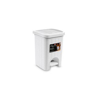 pattumiera-da-bagno lt.6 bianco elegance