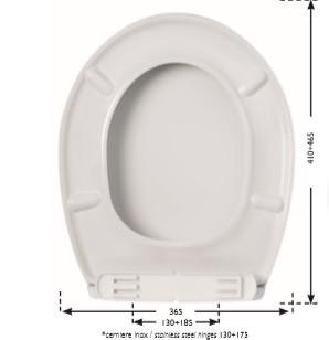 Sedile wc universale termoplastico