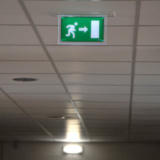 luci di emergenza.