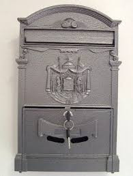 Cassetta postale grigio