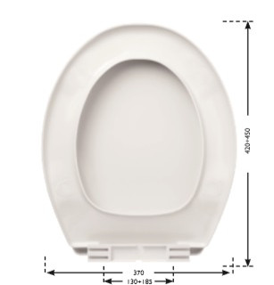 Sedile wc universale Atlantic