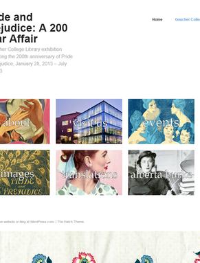 Pride & Prejudice: A 200 Year Affair exhibit website homepage