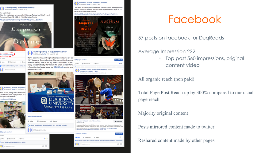Facebook social media slide for program